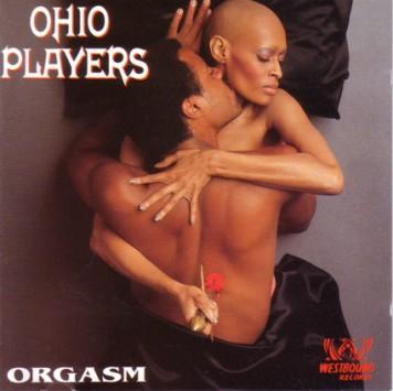Pat Evans posing on the Ohio Players 'Orgasm' album cover