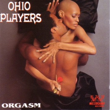Pat Evans posing on the Ohio Players 'Orgasm' album cover