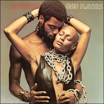 Pat Evans posing on the Ohio Players 'Ecstasy' album cover